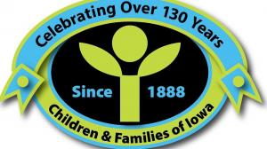 Children and Families of Iowa logo celebrating 130 years