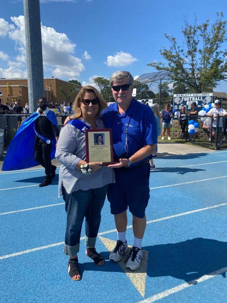 Kerry Welch and Hewlett High School Activities Director