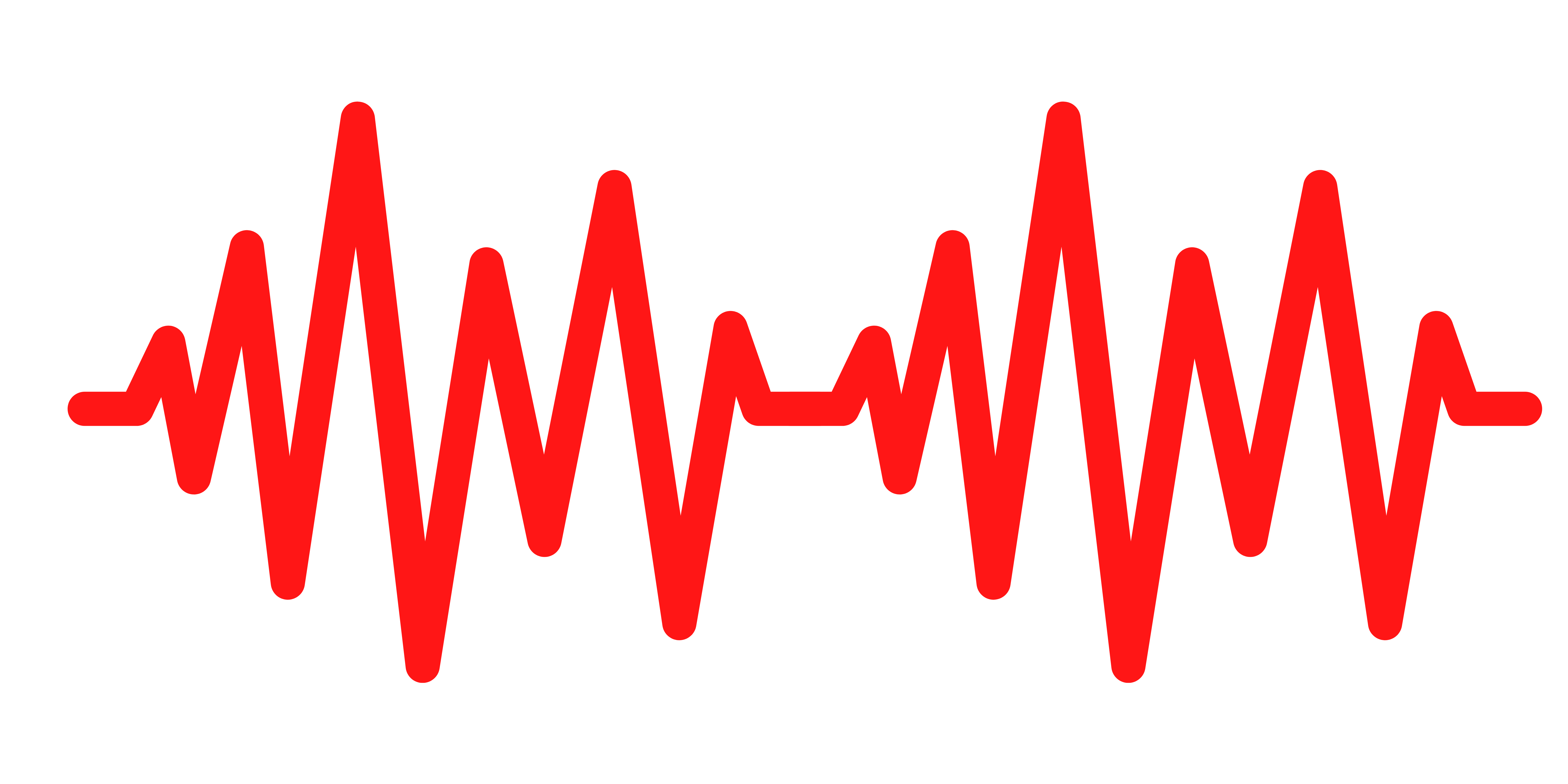 red sound wave image on white background