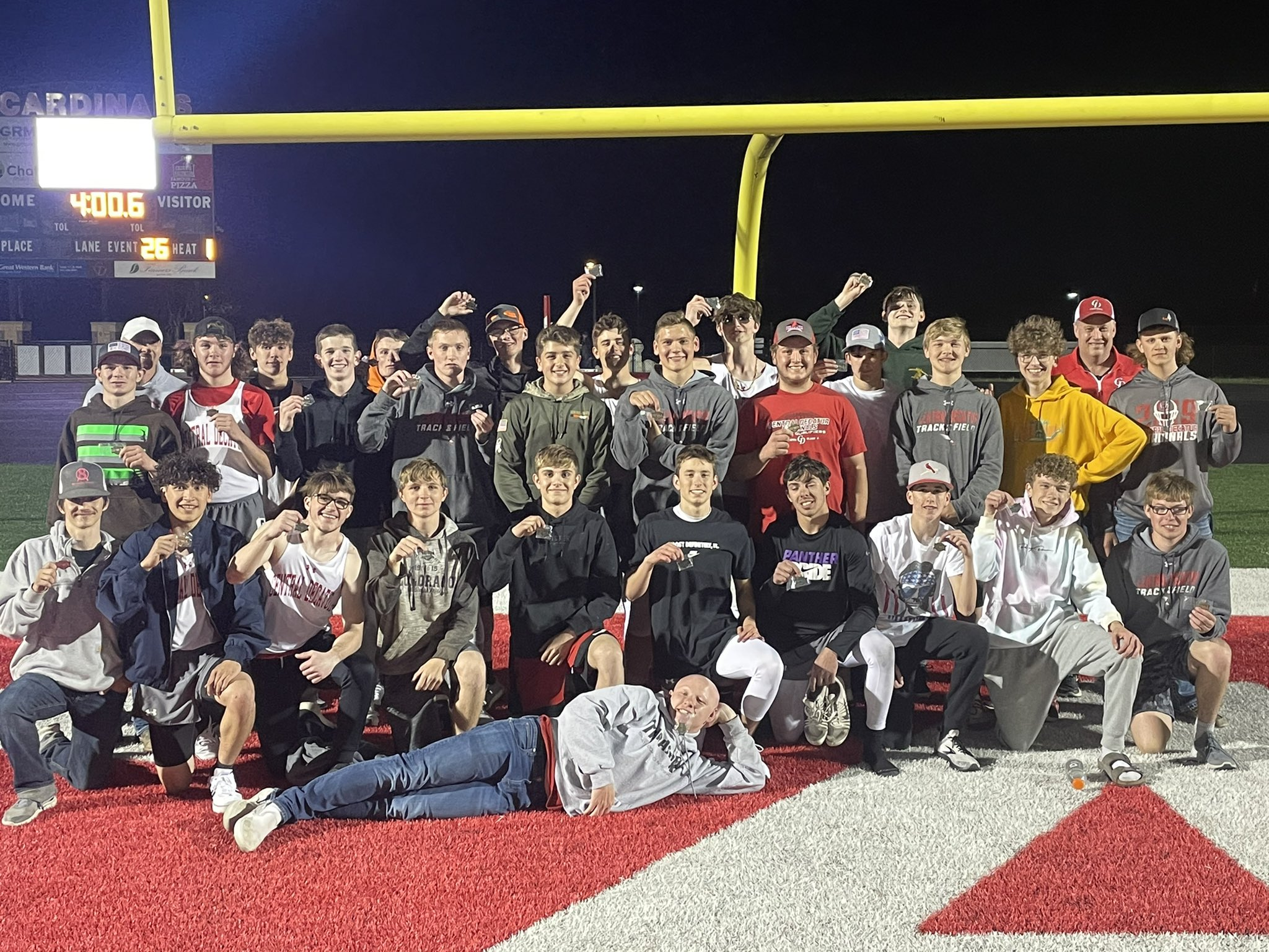 Central Decatur Boys Track Team 2021 Pride of Iowa Conference Champions