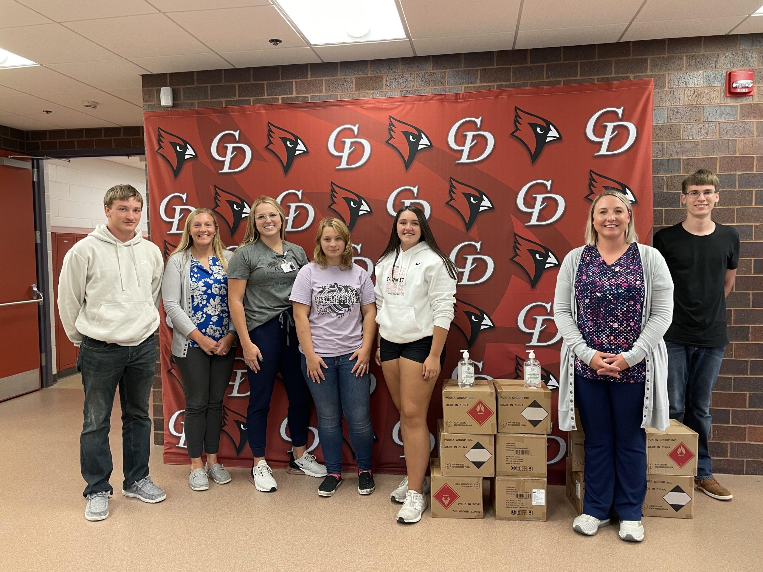 Ringgold County Hospital donates hand sanitizer to CD